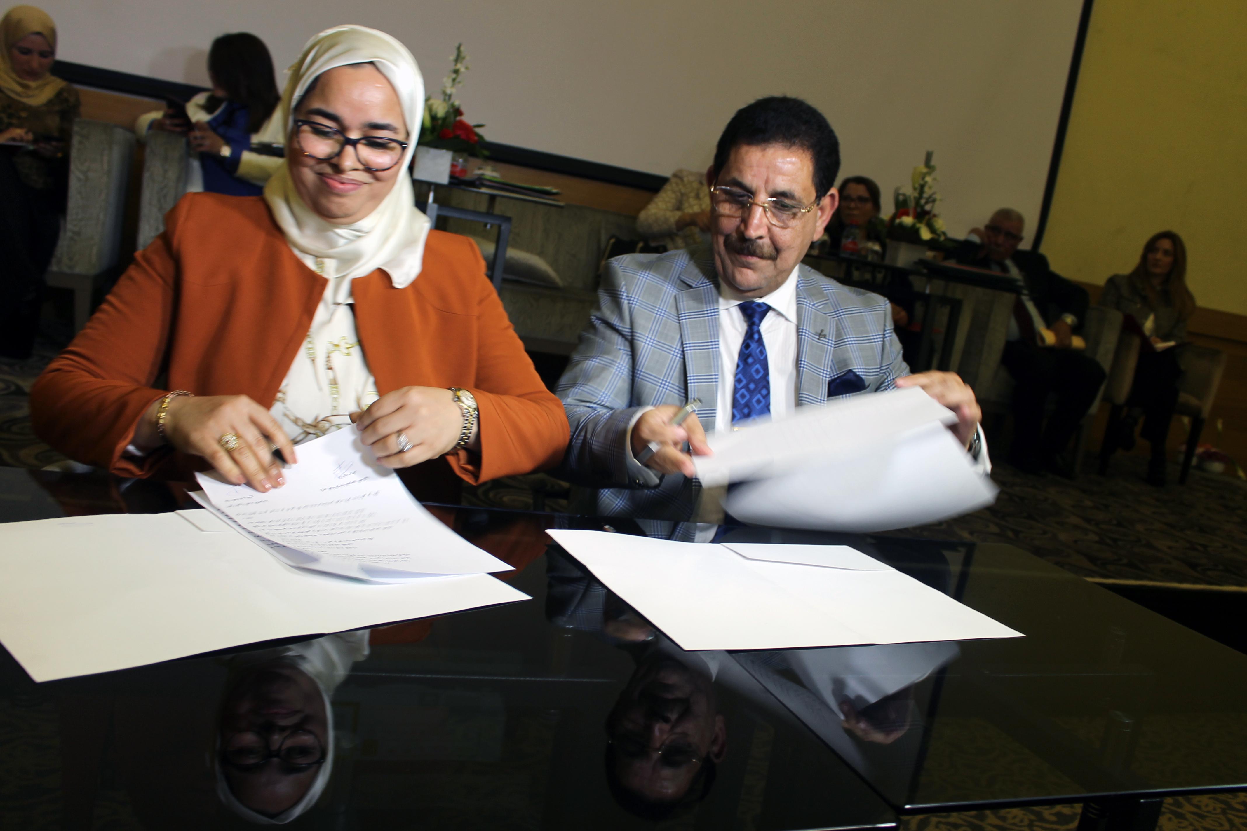 الدار البيضاء.. توقيع اتفاقية شراكة بين الجمعية المغربية للنساء القاضيات والهيئة الوطنية للمفوضين القضائيين