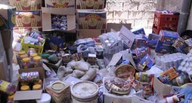 حجز وإتلاف 22 طنا من المواد الغذائية غير صالحة للاستهلاك بجهة الشرق