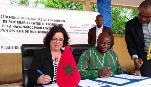 الاتصال السمعي البصري المغربي والبوركينابي، يتفقان