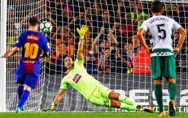 مُسجلاً 4 أهداف، ميسي يعيد برشلونة الى الصدارة