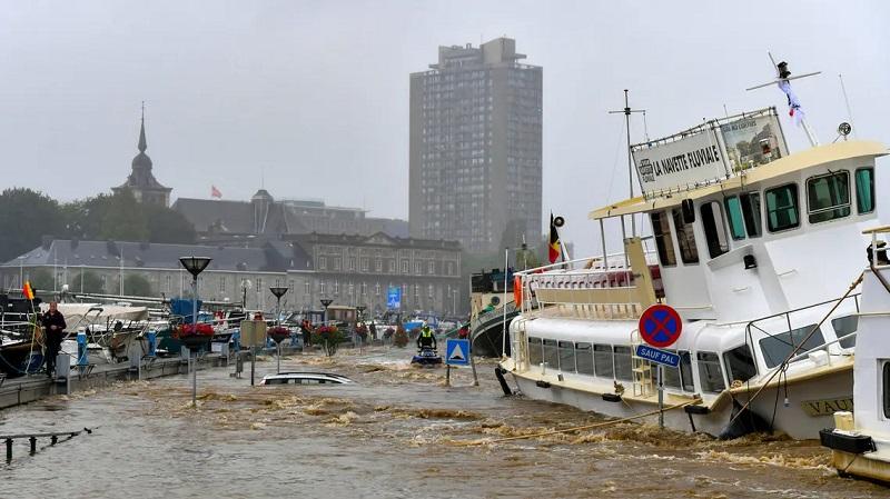 عواصف رعدية قوية تضرب بلجيكا